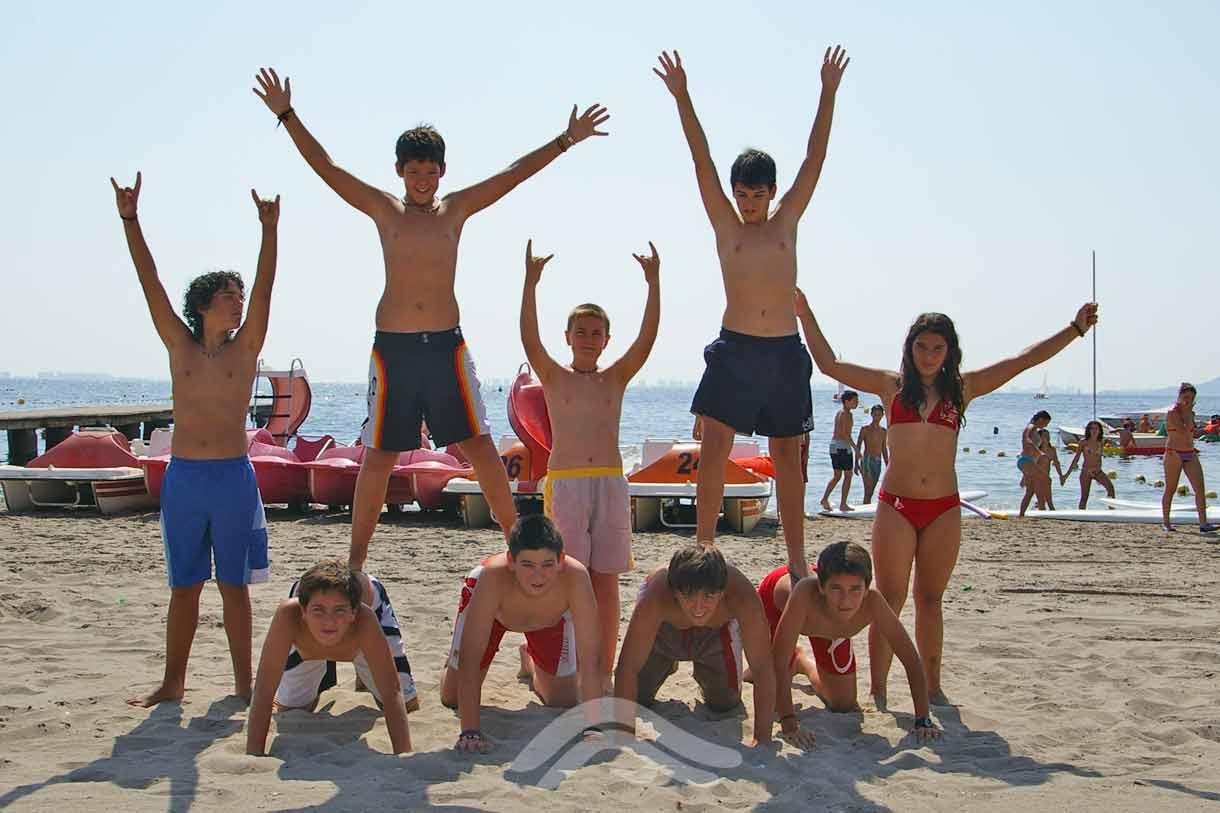 Actividades y juegos en la playa
