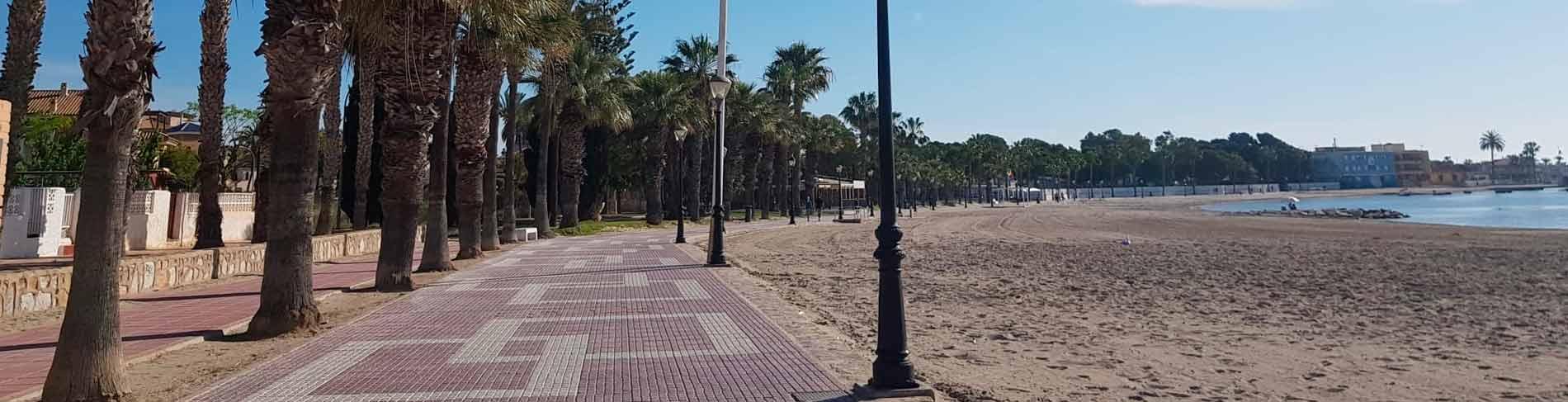 Mar Menor serie panoramica Playa Las Palmeras